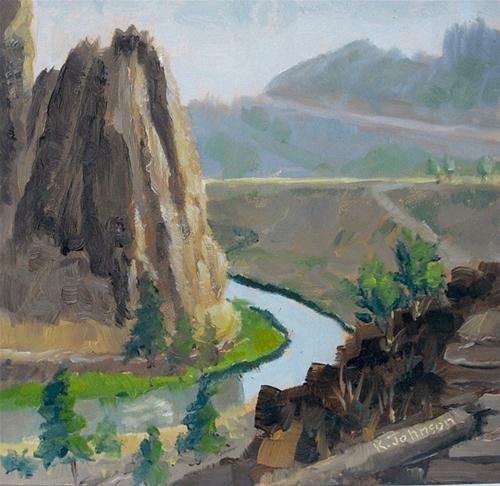 """Smith Rock Morning"" original fine art by Kathy Johnson"