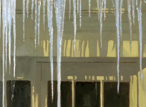 """Icicles"" original fine art by Nancy Herman"