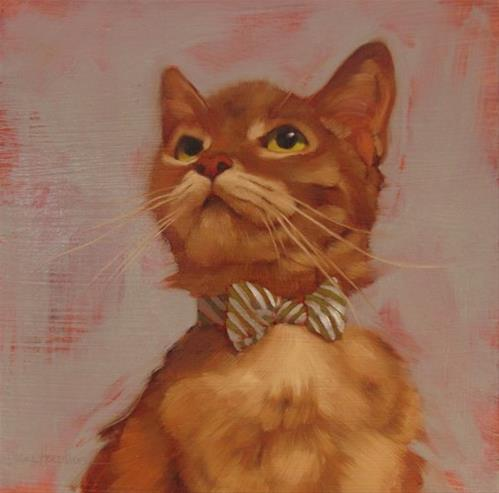 """Bow Tie Beauty & my nephew has a good vocabulary"" original fine art by Diane Hoeptner"