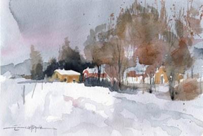 """""""snowy 6"""" original fine art by Emilio López"""