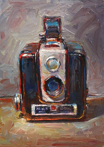 """Brownie Hawkeye Camera"" original fine art by Raymond Logan"