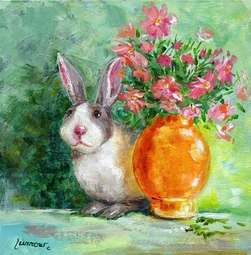 """More Plein Aire and a Bunny"" original fine art by Sue Furrow"