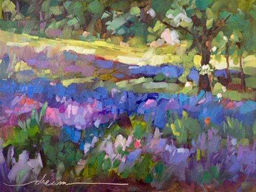 """Lavender Peace"" original fine art by Dreama Tolle Perry"