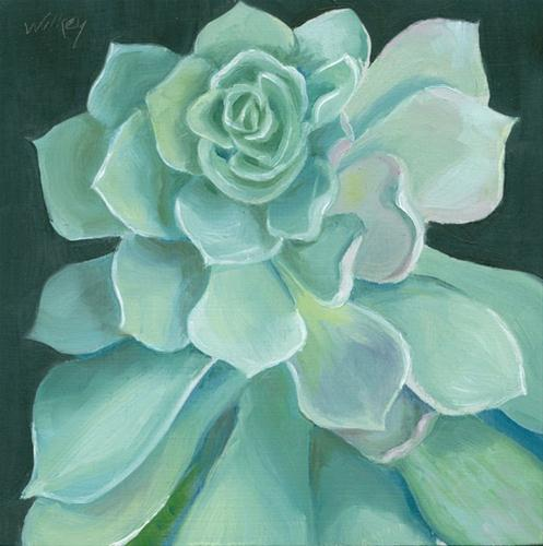 """Succulent"" original fine art by Jean Wilkey"