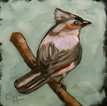 """Tufted Titmouse"" original fine art by Claire Henning"