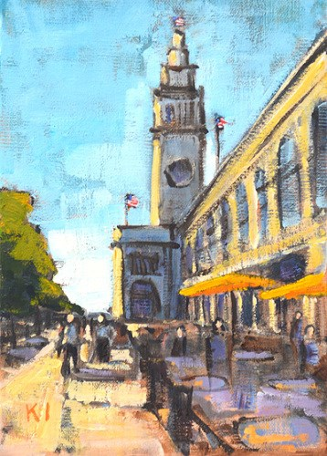 """Ferry Building, San Francisco"" original fine art by Kevin Inman"