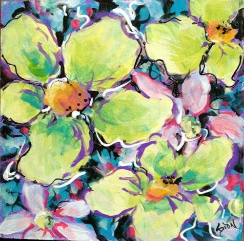 """8X8 Floral #1"" original fine art by Sue Dion"