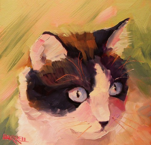 """Gracie"" original fine art by Sue Harrell"