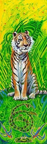 """Original Contemporary Wildlife Painting Tiger by Colorado Artist Nancee Jean Busse"" original fine art by Nancee Busse"