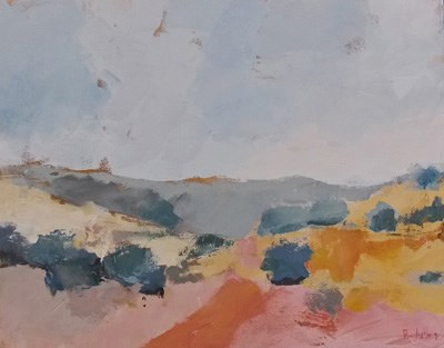 """Desert Gold II"" original fine art by Pamela Munger"