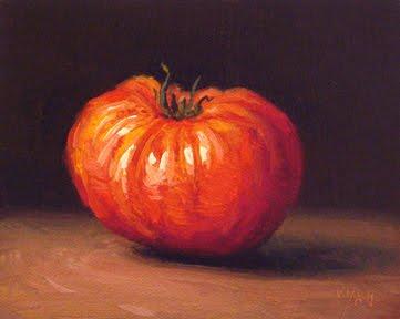 """Summer Heirloom Tomato"" original fine art by Abbey Ryan"