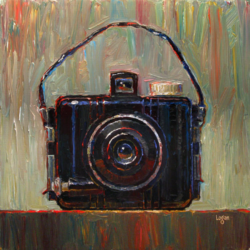 Baby Brownie Camera original fine art by Raymond Logan