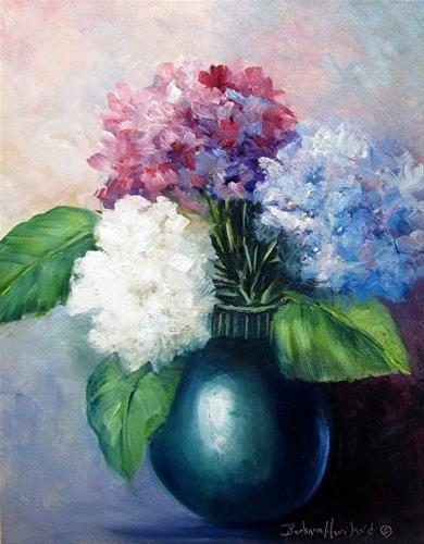 """Flora Hydrangeas"" original fine art by Barbara Haviland"