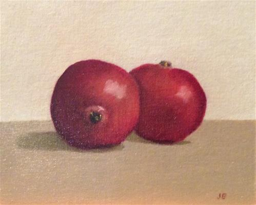 """Pomegranites"" original fine art by Jeanne Bossart"