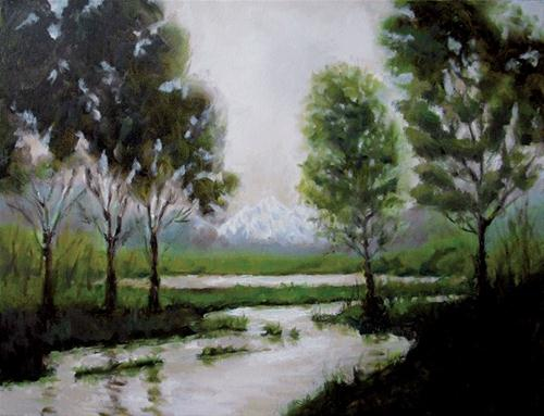 """Lost Lake"" original fine art by Kathy Johnson"