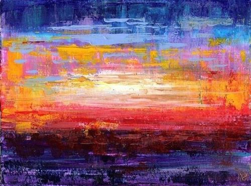 """3115 - Matted - Sunset"" original fine art by Sea Dean"