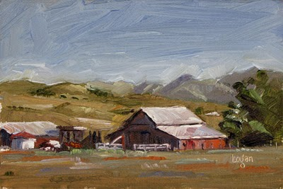 """South Nipomo Barn"" original fine art by Raymond Logan"