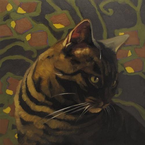 Deco Layla original fine art by Diane Hoeptner