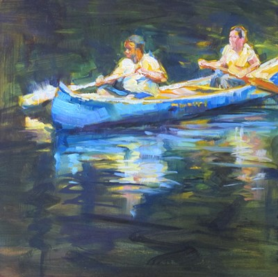 """Canoe"" original fine art by Karen Bruson"