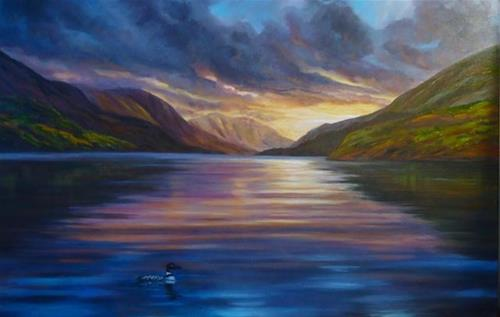 """Evening Solitude"" original fine art by Jackie Irvine"