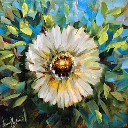 """Daisy Daisy and a First Place Award for Cuties by Texas Flower Artist Nancy Medina"" original fine art by Nancy Medina"