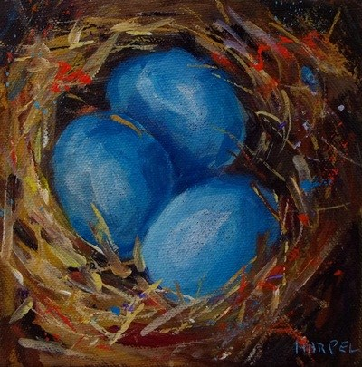 """Nesting"" original fine art by Alice Harpel"