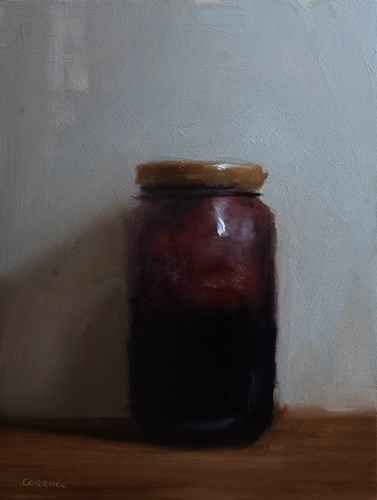 """Blackcurrant Jam Jar"" original fine art by Neil Carroll"