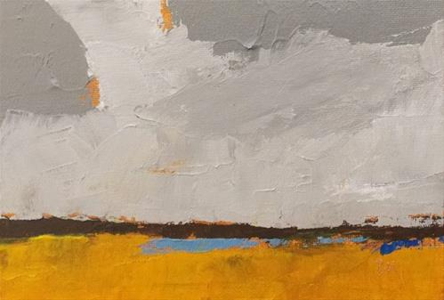 """Golden Field"" original fine art by Pamela Munger"