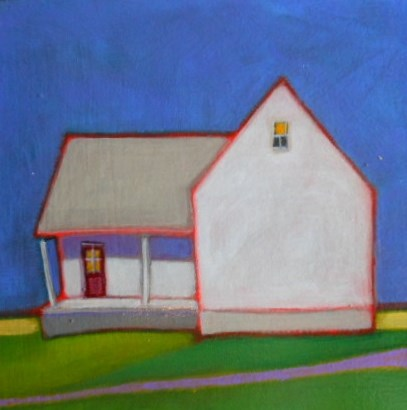 """Farmhouse"" original fine art by Almira Hill Grammer"