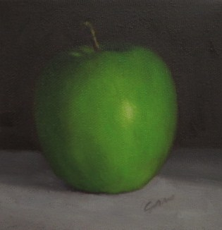 """Granny Smith Apple"" original fine art by Michelle Garro"