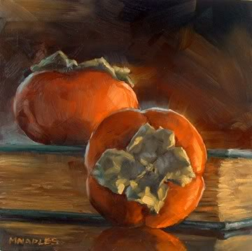 """Persimmons"" original fine art by Michael Naples"