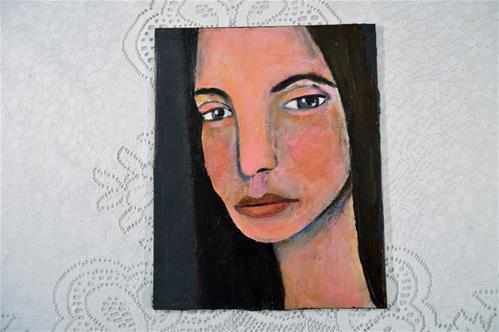 """Sale!! It's Courageous to be Confident"" original fine art by Katie Jeanne Wood"