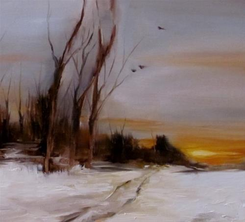 """She Painted Fire Across the Skyline"" original fine art by ~ces~ Christine E. S. Code"
