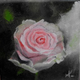 """wise rose"" original fine art by Konstantia Karletsa"