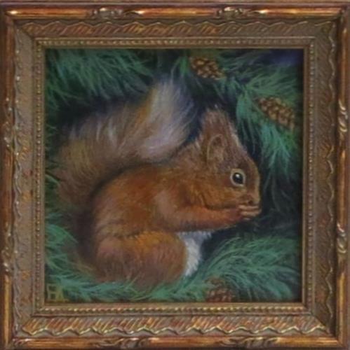 """""""Nom Nom (framed)"""" original fine art by Elizabeth Elgin"""