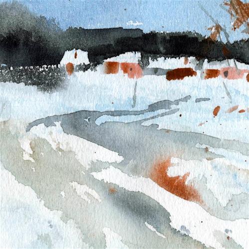 """""""snowy 1"""" original fine art by Emilio López"""