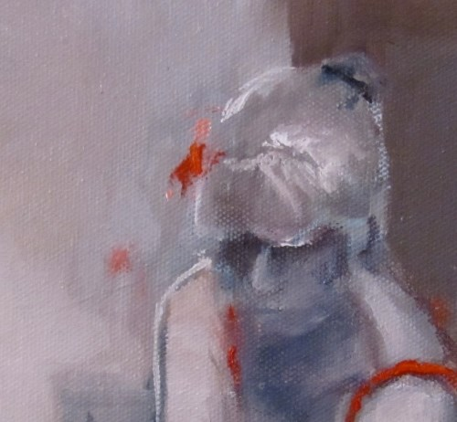 """Contemplation in Red"" original fine art by ~ces~ Christine E. S. Code"
