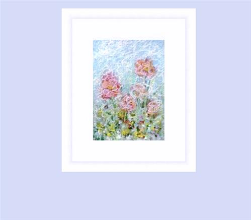 """6016 - WILD FLOWERS ACEO"" original fine art by Sea Dean"