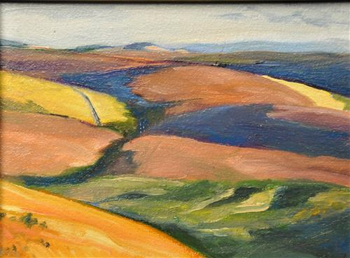 """Wheat Fields"" original fine art by Margot Cole"