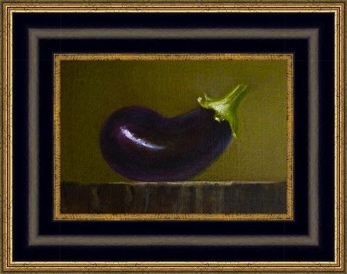 """""""Japanese Eggplant"""" original fine art by MeeLi Lee"""