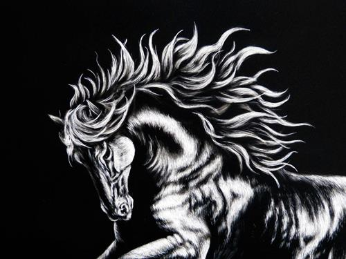 """Friesian"" original fine art by Monique Morin Matson"