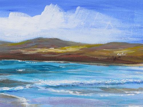 """Beach Scene"" original fine art by Susan Mackenzie"