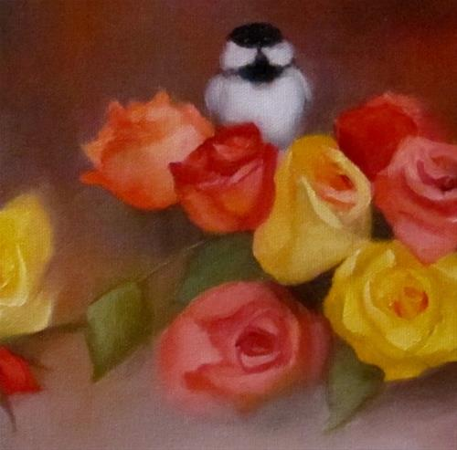 """Arranging the Roses"" original fine art by ~ces~ Christine E. S. Code"