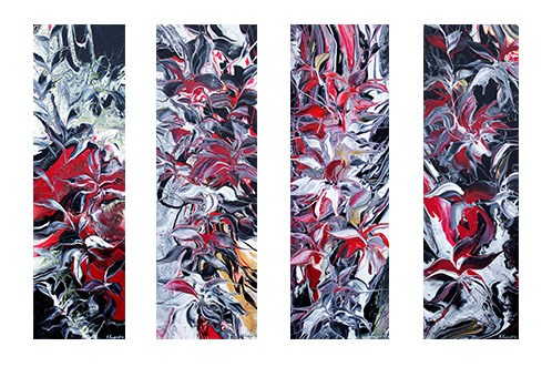 """Flowers Reflection III"" original fine art by Khrystyna Kozyuk"
