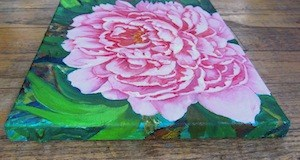 """Pink Peony"" original fine art by Patricia Musgrave"