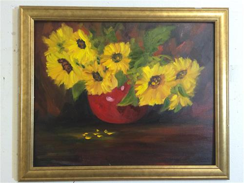 """Sunflowers"" original fine art by Ramya Sarveshwar"