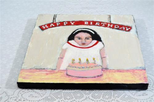"""Happy Birthday"" original fine art by Katie Jeanne Wood"