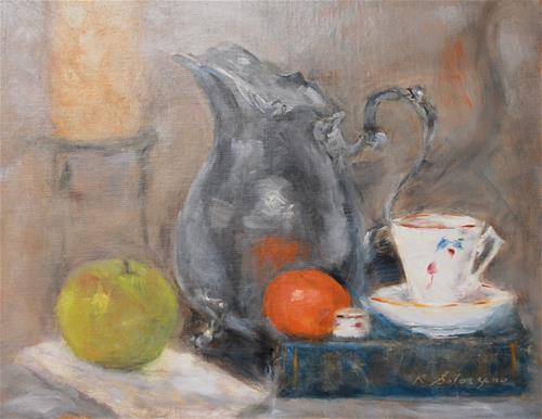 """Pinot Noir"" original fine art by Karen Solorzano"