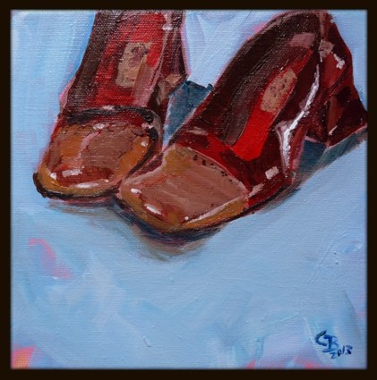 """red"" original fine art by Claudia Brandt"