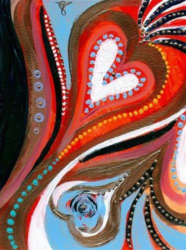 """3130 - Heartfelt - Black Frame"" original fine art by Sea Dean"